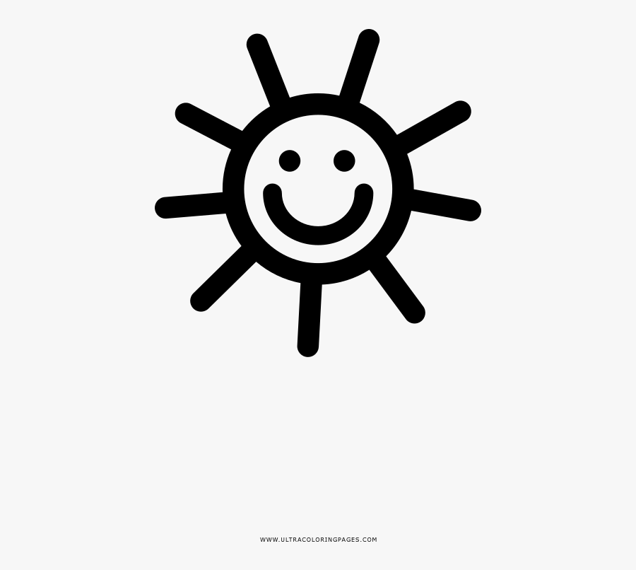 Happy Sun Coloring Page - Simple Easy To Draw Flowers, Transparent Clipart