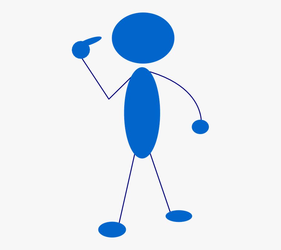 Stickman, Stick Figure, Stick Man, Cartoon, Pointing, Transparent Clipart