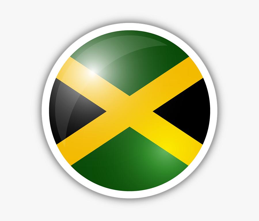 Jamaica Flag Circle Sticker Clipart , Png Download - Jamaica Flag In A Circle, Transparent Clipart