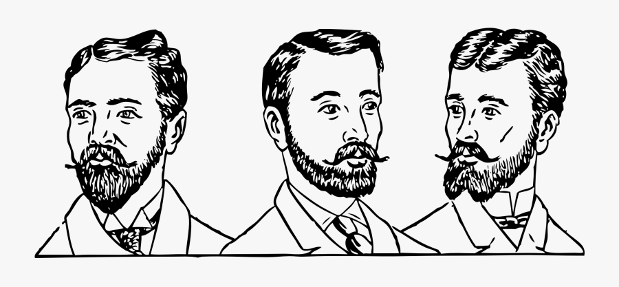 Mens Hair Styles Circa - Mens Hair 1900, Transparent Clipart