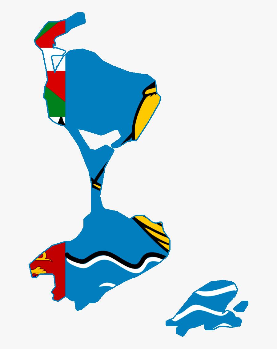 Saint Pierre And Miquelon Flag Png - Saint Pierre And Miquelon Flag Map, Transparent Clipart
