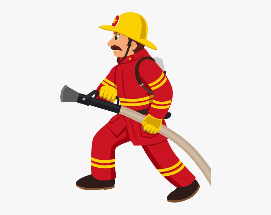 Fire Safety & Security - Clip Art Fire Man, Transparent Clipart