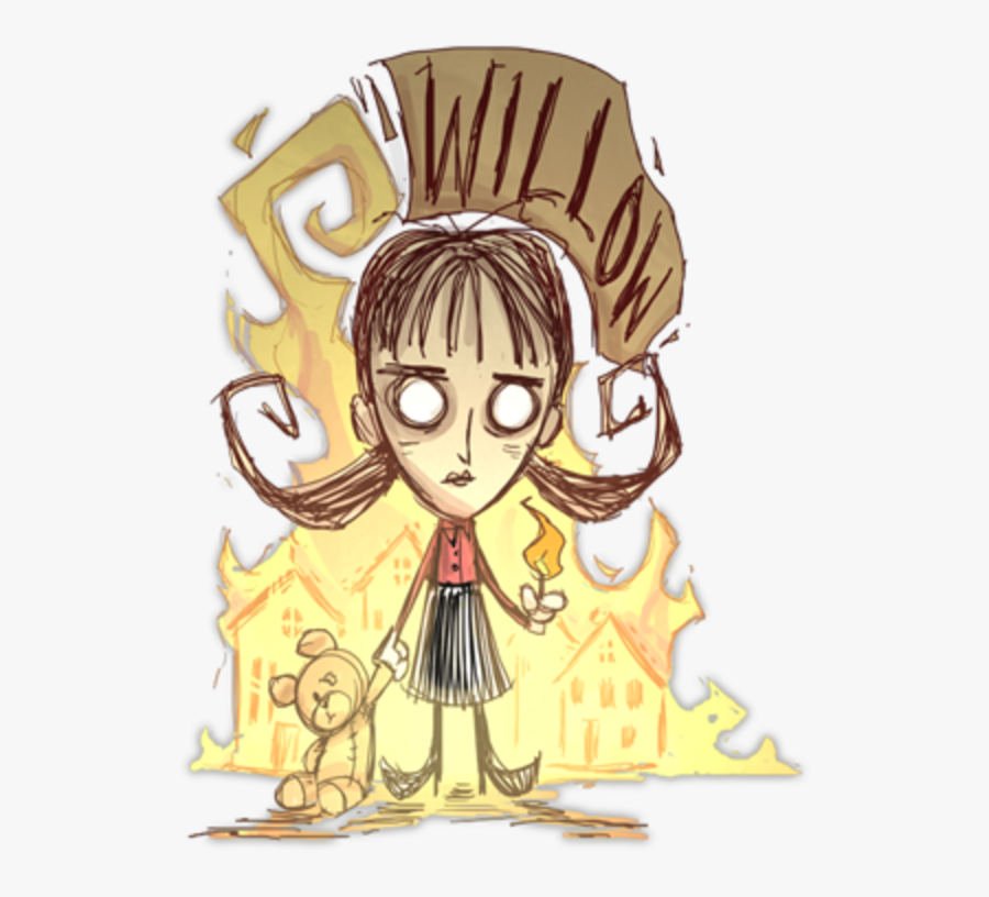 """Don""""t Starve Together T-shirt Yellow Mammal Vertebrate - Willow Don T Starve, Transparent Clipart"""