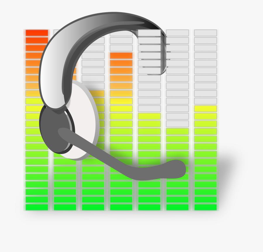 Microphone Headset Equalization Sound Headphones - Headset Clip Art, Transparent Clipart