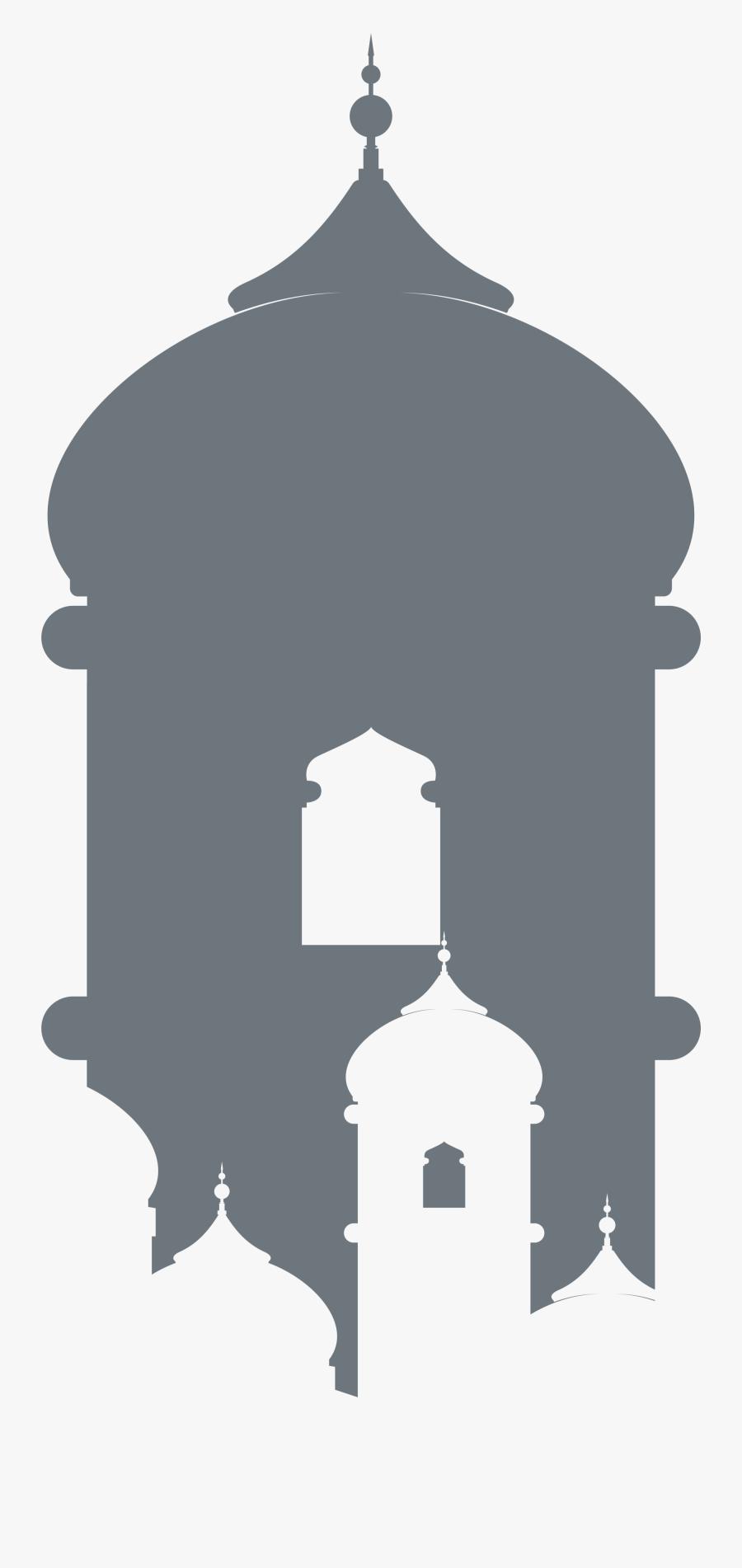 Al Roof Grey Eid Church Al-fitr Clipart - Transparent Mosque Illustration Png, Transparent Clipart