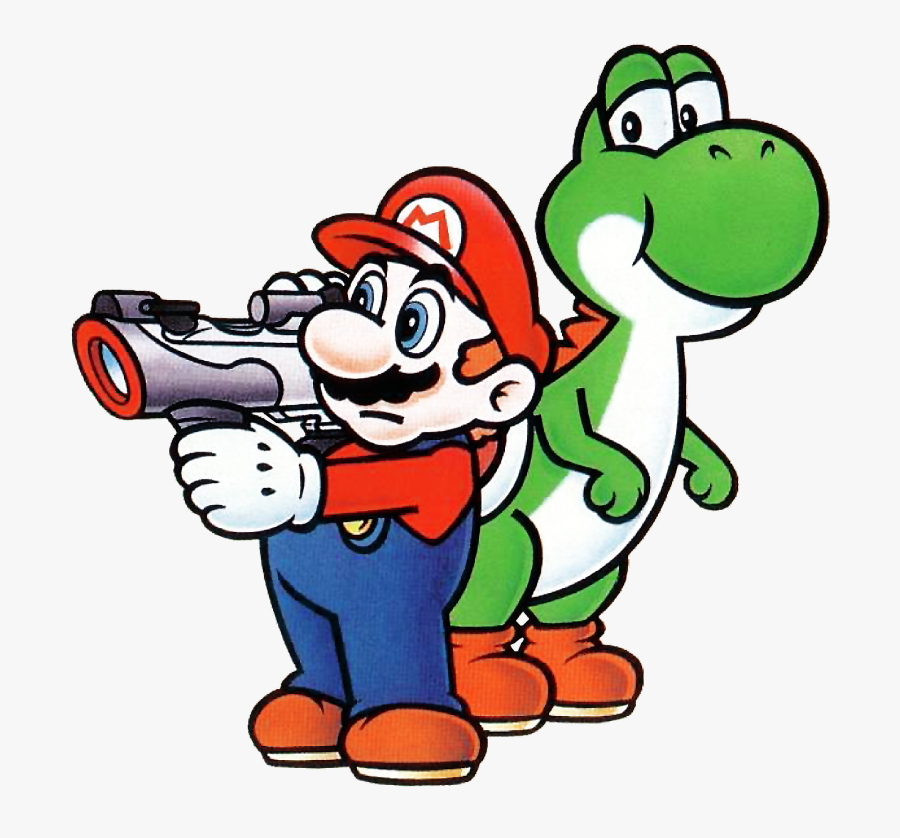 What Is Your Favorite Mario Bros Powerup - Mario With Super Scope, Transparent Clipart
