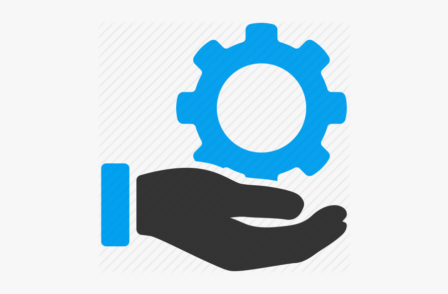 Gear In Hand Icon, Transparent Clipart