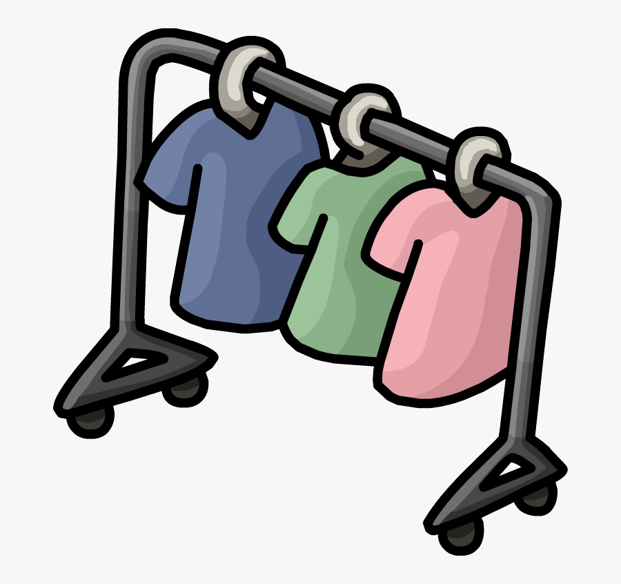 Image Town Png Club - Cartoon Clothing Rack Png, Transparent Clipart