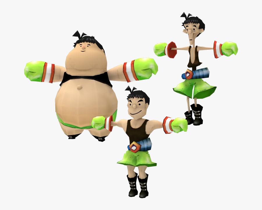 Cartoon,toy,clip Figure,fictional Character - Fat Little Mac, Transparent Clipart