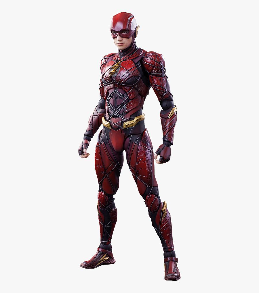 Clip Art Flash Action Figure - Play Arts Kai Flash Justice League, Transparent Clipart