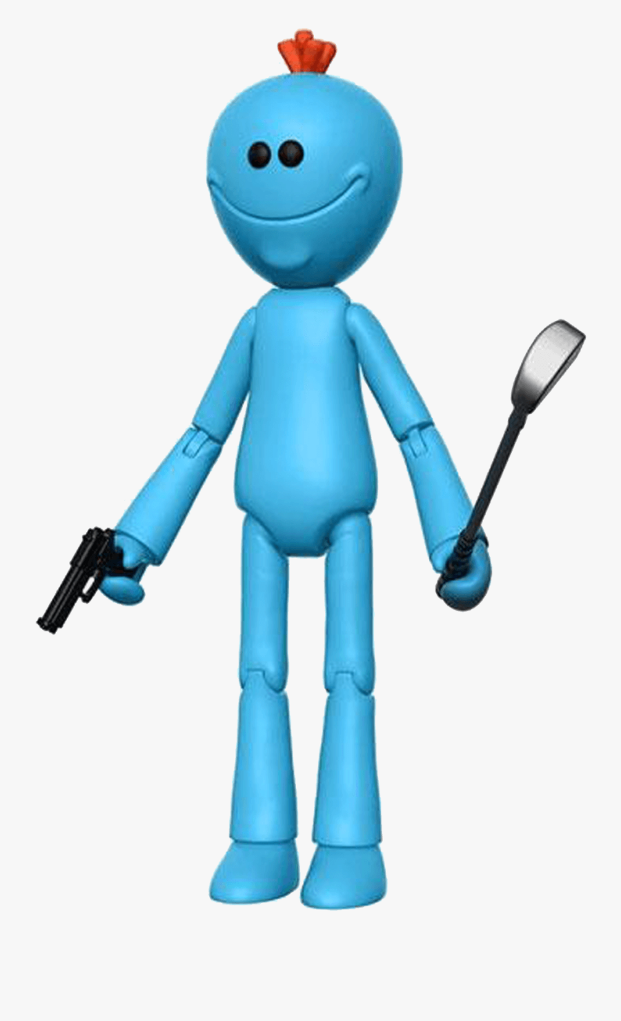 Cartoon,clip Figure,gesture,graphics - Rick And Morty Mr Meeseeks Figure, Transparent Clipart