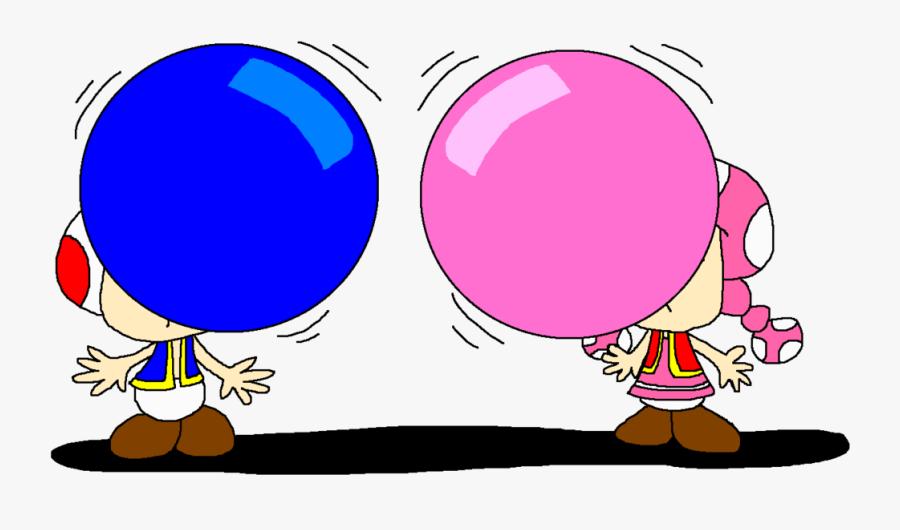 Chewing Gum Bubble Gum Cartoon - Cartoon Bubble Gum Png, Transparent Clipart