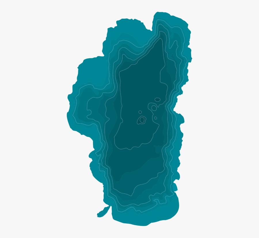 Lake Tahoe Map Outline, Transparent Clipart