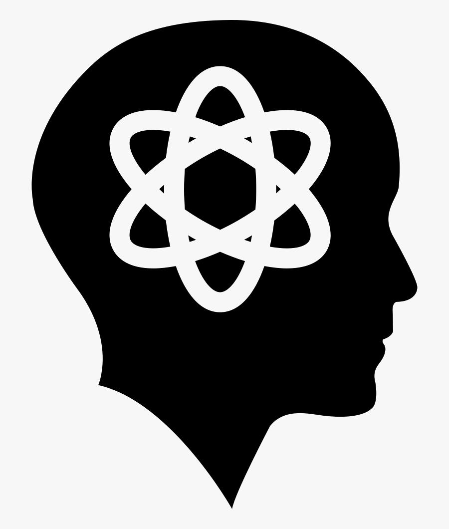 Bald Head With Science Symbol - Transparent Question Mark Symbol, Transparent Clipart
