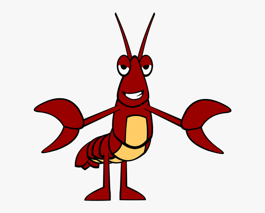 Baw, The Crawfish - Crawfish Cartoon, Transparent Clipart