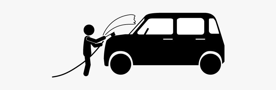 Car Wash Line Art, Transparent Clipart