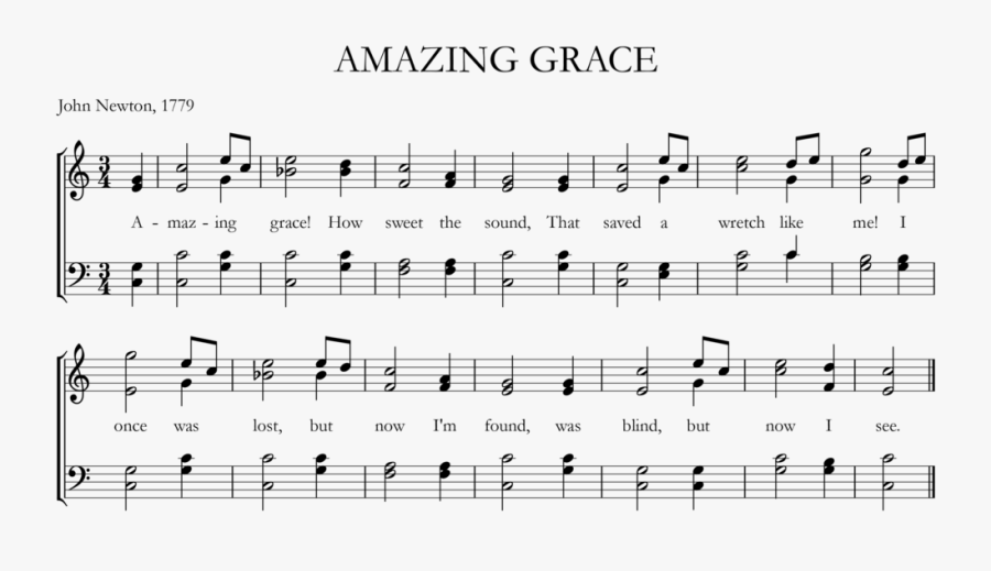 Http - //upload - Wikimedia - - - Png - Amazing Grace - Bản Nhạc Amazing Grace, Transparent Clipart