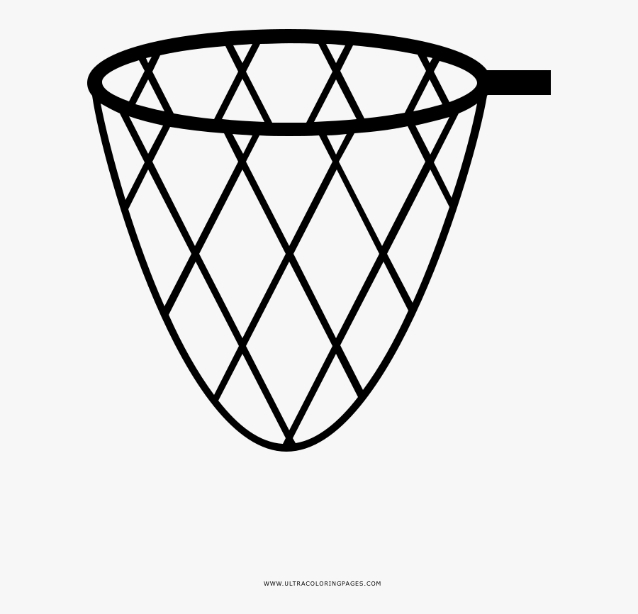 Fishing Net Coloring Page - Fishing Net Colouring Page, Transparent Clipart