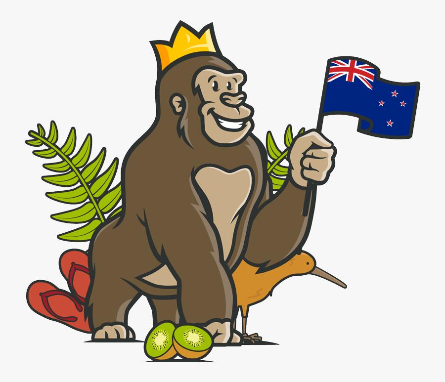 Transparent New Zealand Flag Cartoon Animals, Transparent Clipart