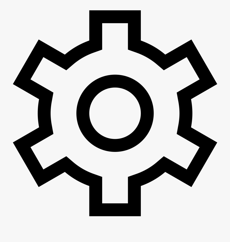 Simpleicons Interface Gear-outline - Windows 10 Settings Icon, Transparent Clipart