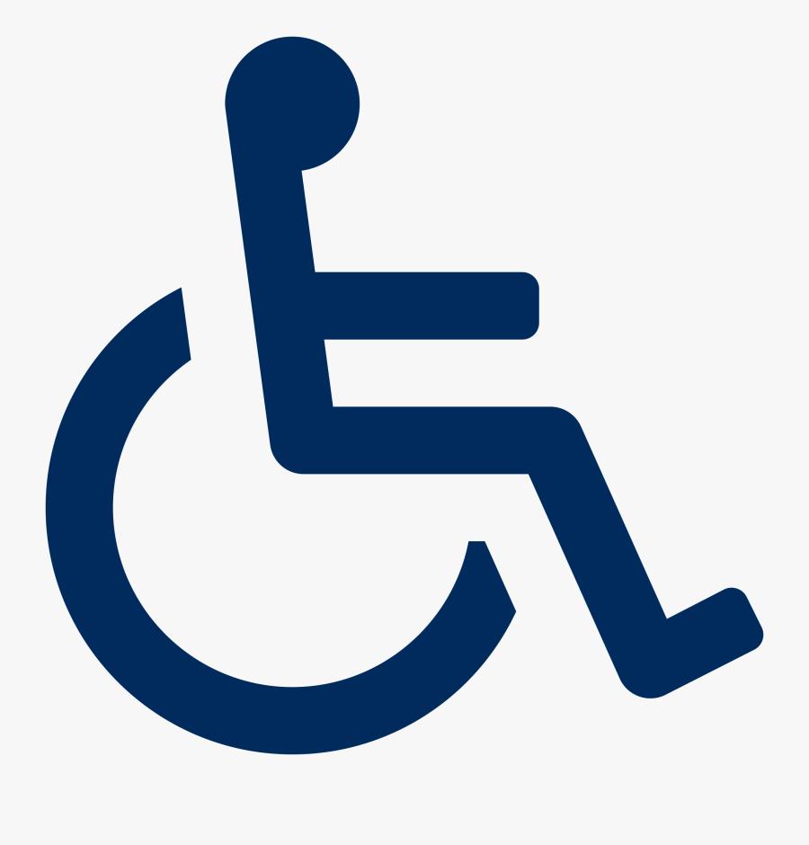 Blue Handicap Symbol Png, Transparent Clipart