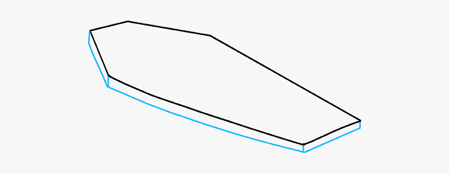 How To Draw Coffin - Dinghy, Transparent Clipart