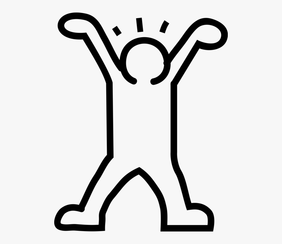 Vector Illustration Of Keith Haring Influence Pop Art - Keith Haring Stick Figure, Transparent Clipart