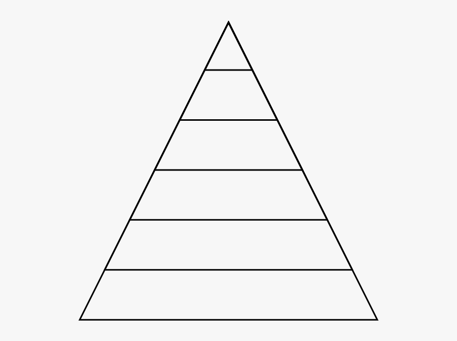 Triangle With Lines Inside, Transparent Clipart