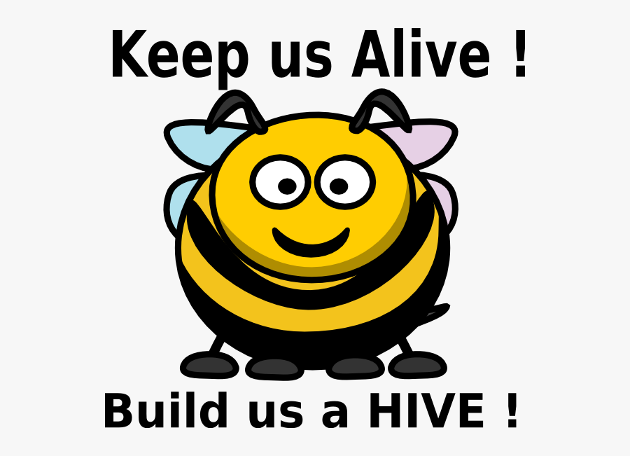 Cartoon Bee Clipart, Transparent Clipart