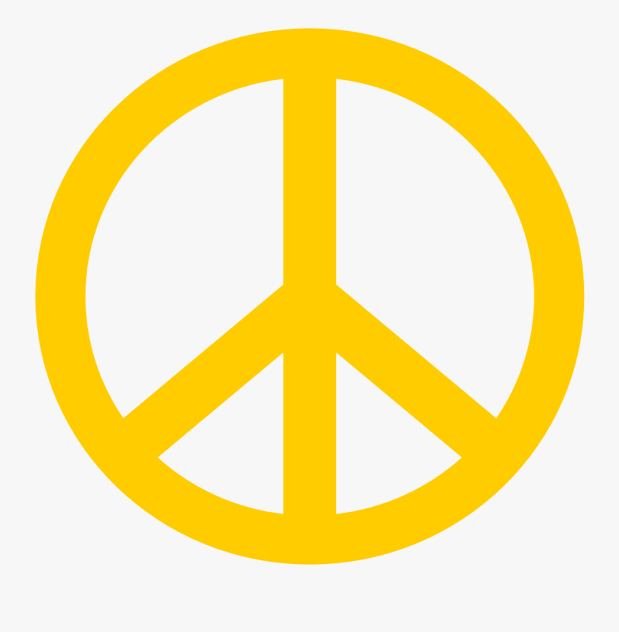 Peace Sign Images Free Clip Art - Simple Peace Symbol Tattoo, Transparent Clipart