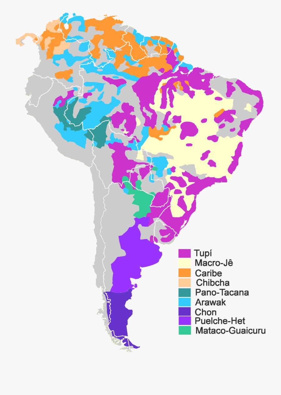 South America Native Map, Transparent Clipart