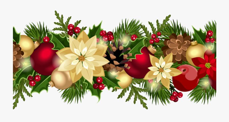 Wreath Christmas Transparent Image - Christmas Border Design Transparent, Transparent Clipart