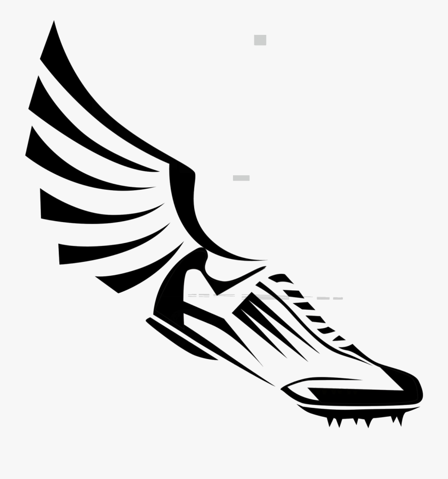 Track Shoe Winged Clipart Eps File