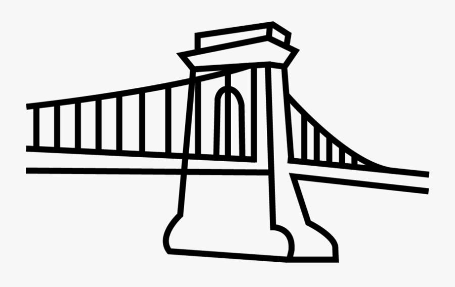 Self-anchored Suspension Bridge, Transparent Clipart