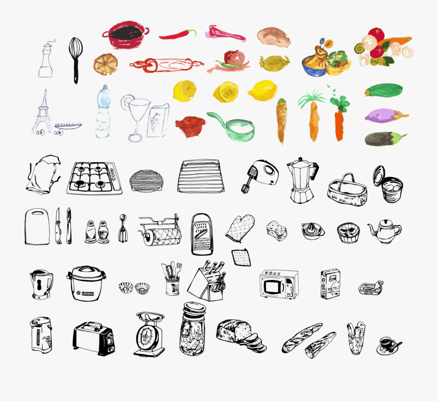 All Clipart - All Things In The Kitchen, Transparent Clipart