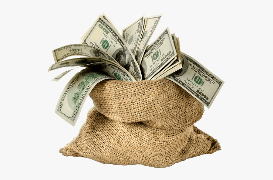 Money Bag Life Insurance Investment Finance - Bag Of Money Transparent Background, Transparent Clipart
