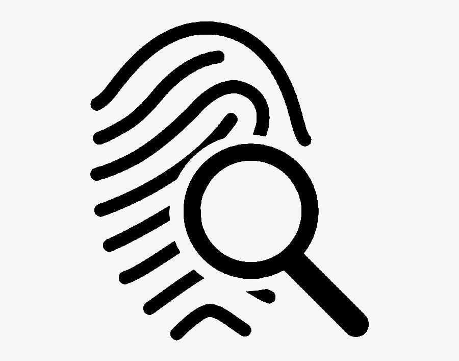 Magnifying Glass Fingerprint Icon, Transparent Clipart