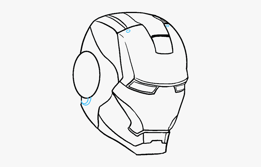 """How To Draw Iron Man""""s Mask - Easy How To Draw Iron Man, Transparent Clipart"""