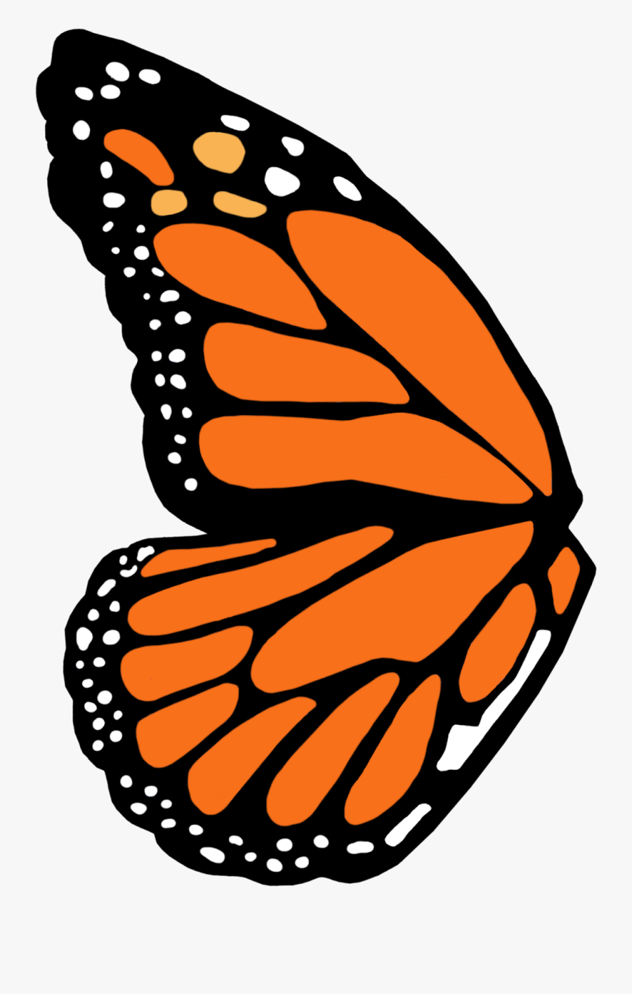Monarch Butterfly Wing Template, Transparent Clipart