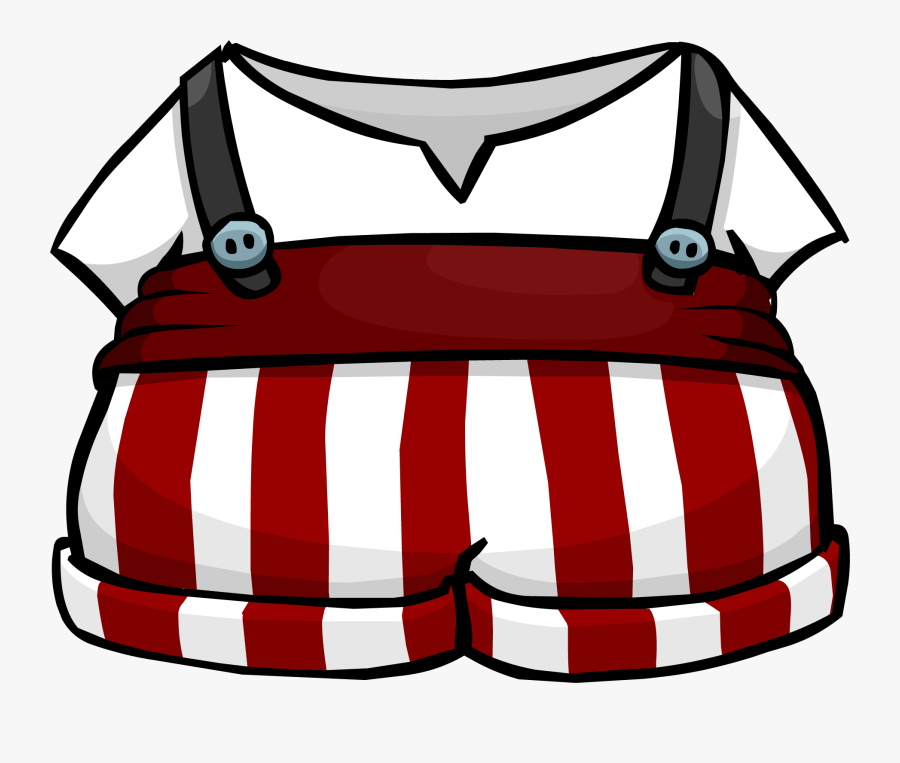 Club Sled Rewritten Wiki - Club Penguin Striped Overalls, Transparent Clipart