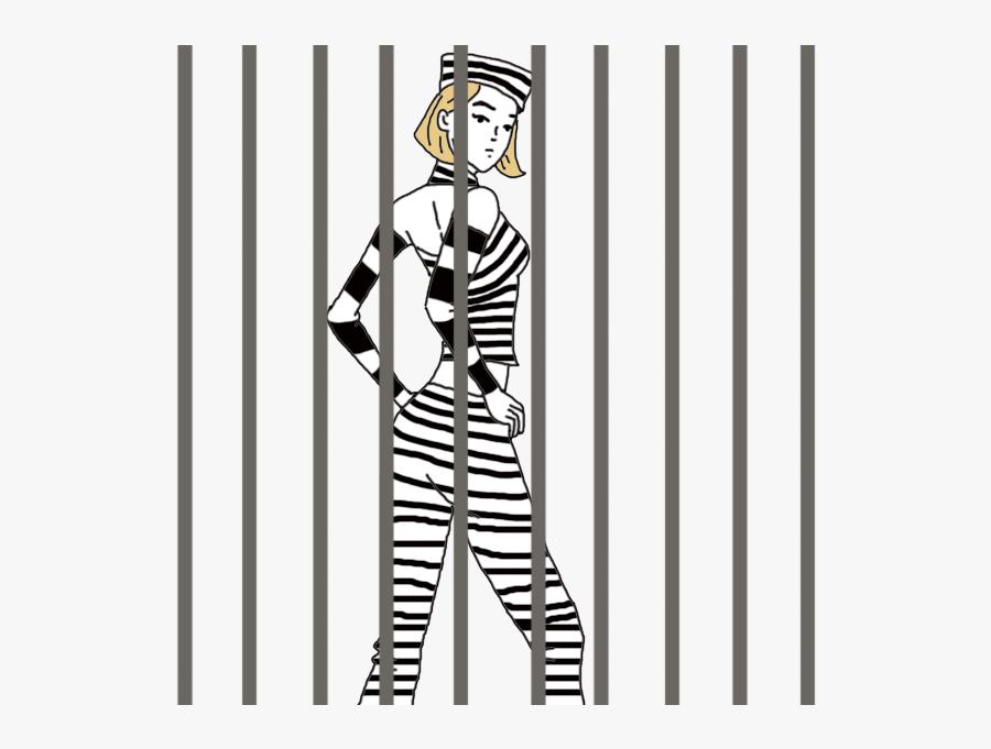 woman in jail cartoon - Clip Art Library