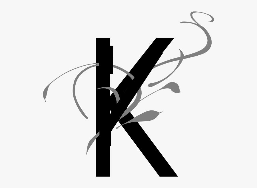 Png Stock Letter Clip Art At Clker Com Online - Fancy Letter K Transparent, Transparent Clipart