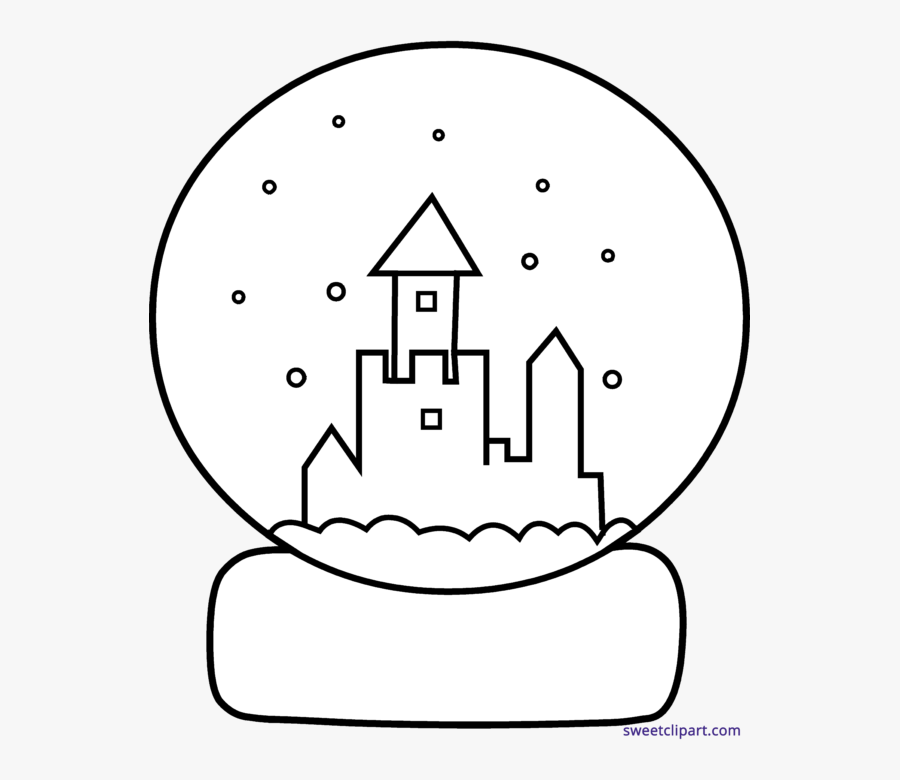 Snowglobe Drawing Aesthetic - Winter Snow Globes Colouring, Transparent Clipart