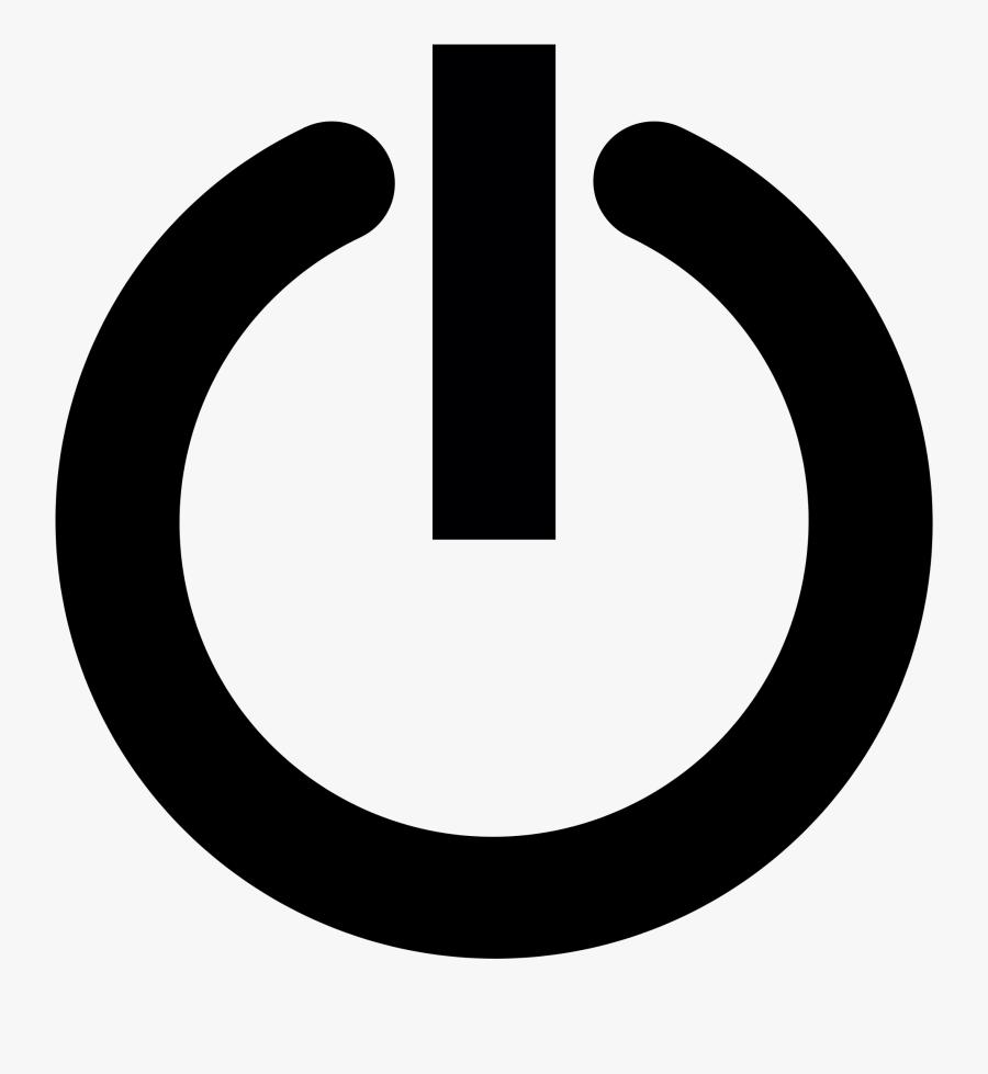 Clip Art File Svg Wikimedia Commons - Computer Power Button Logo, Transparent Clipart