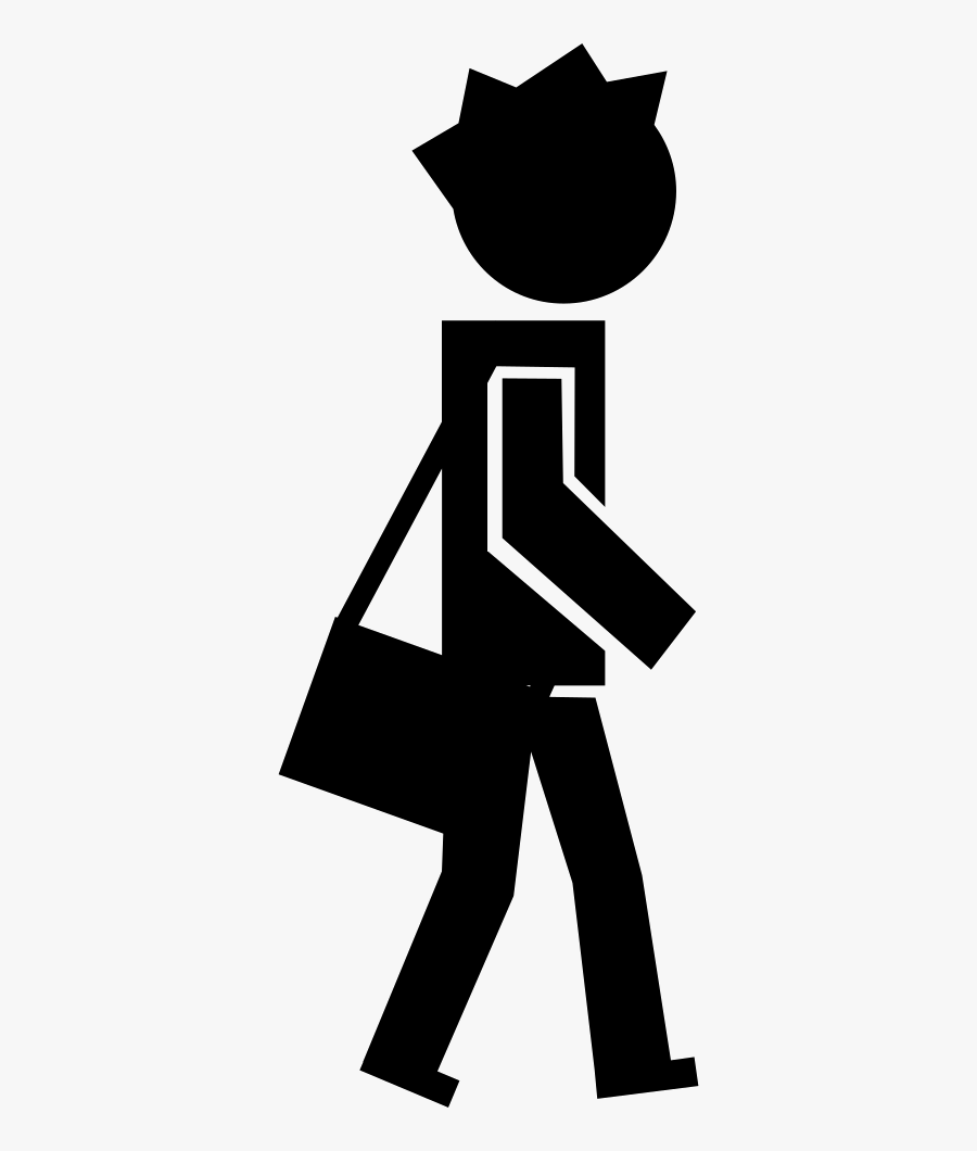 Clipart Walking Student - Student Walking Vector Png, Transparent Clipart