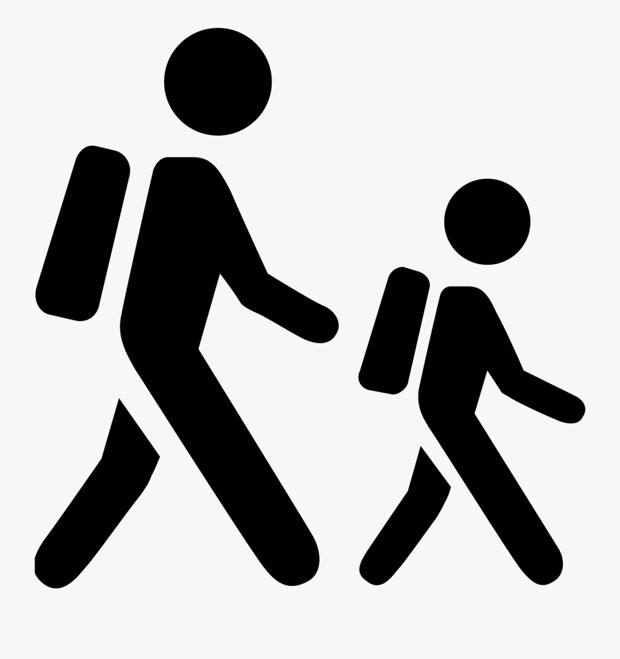 Clipart Walking Two Student - Student Icon, Transparent Clipart