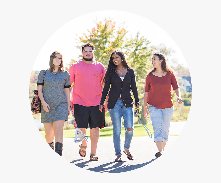 Group Of Students Walking Outside - Vacation, Transparent Clipart