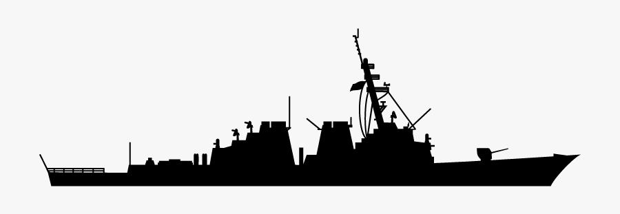 Guided Missile Destroyer Battlecruiser Armored Cruiser - Us Navy Ddg Silhouette, Transparent Clipart