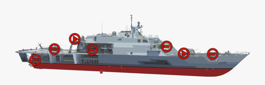 Tour The Uss Detroit - Inside Freedom Class Lcs, Transparent Clipart