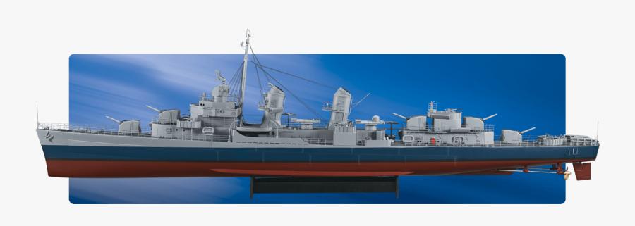 72 Us Fletcher Class Destroyer Arr - Guided Missile Destroyer, Transparent Clipart